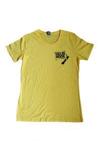 Yellow raglan rock t shirt