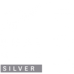Qualmark Silver Award Logo Stacked Reverse