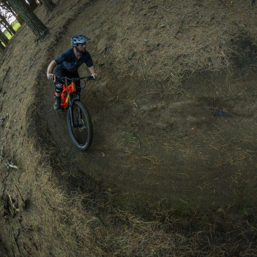 Flying through Raglan Mountain Bike Trails